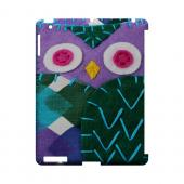 Purple/ Green Owl Geek Nation Program Exclusive Jodie Rackley Series Hard Case for Apple iPad (3rd & 4th Gen.)