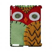 Red/ Orange Owl Geek Nation Program Exclusive Jodie Rackley Series Hard Case for Apple iPad (3rd & 4th Gen.)