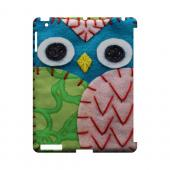 Blue/ Green Owl Geek Nation Program Exclusive Jodie Rackley Series Hard Case for Apple iPad (3rd & 4th Gen.)