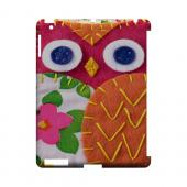 Hot Pink/ Green Owl Geek Nation Program Exclusive Jodie Rackley Series Hard Case for Apple iPad (3rd & 4th Gen.)