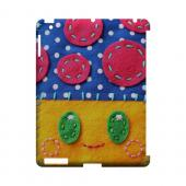 Blue/ Yellow Mushroom Geek Nation Program Exclusive Jodie Rackley Series Hard Case for Apple iPad (3rd & 4th Gen.)