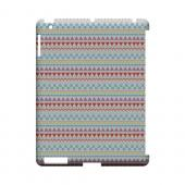Multi-Shapes & Colors on White Geeks Designer Line Zig Zag Series Slim Hard Case for Apple iPad (3rd & 4th Gen.)