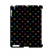 Small & Rainbow on Black Geeks Designer Line Polka Dot Series Slim Hard Case for Apple iPad (3rd & 4th Gen.)