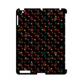 Faded Rainbow Dots on Black Geeks Designer Line Polka Dot Series Slim Hard Case for Apple iPad (3rd & 4th Gen.)