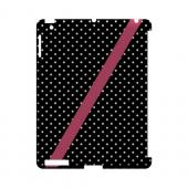 Pink Diagonal Stripe Geeks Designer Line Polka Dot Series Slim Hard Case for Apple iPad (3rd & 4th Gen.)