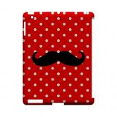 Stache on Red Geeks Designer Line Polka Dot Series Slim Hard Case for Apple iPad (3rd & 4th Gen.)