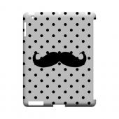 Stache on White Geeks Designer Line Polka Dot Series Slim Hard Case for Apple iPad (3rd & 4th Gen.)