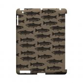Vintage Salmon & Trout Print - Geeks Designer Line (GDL) Fish Series Hard Back Cover for Apple iPad (3rd & 4th Gen.)