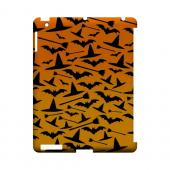 Witch Hat/Broom/Bat on Orange - Geeks Designer Line (GDL) Monster Mash Series Hard Back Cover for Apple iPad (3rd & 4th Gen.)