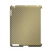 Thin Golden Diagonal - Geeks Designer Line Stripe Series Hard Case for Apple iPad (3rd & 4th Gen.)