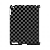 Gray/ Black - Geeks Designer Line Checker Series Hard Case for Apple iPad (3rd & 4th Gen.)