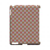 Pink/ Peach - Geeks Designer Line Checker Series Hard Case for Apple iPad (3rd & 4th Gen.)