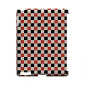 Red/ Black on Cream - Geeks Designer Line Checker Series Hard Case for Apple iPad (3rd & 4th Gen.)