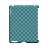 Teal/ Gray - Geeks Designer Line Checker Series Hard Case for Apple iPad (3rd & 4th Gen.)