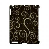 Elegant Dark Vines - Geeks Designer Line Floral Series Hard Case for Apple iPad (3rd & 4th Gen.)