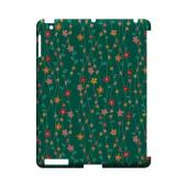 Flowers & Vines on Green - Geeks Designer Line Floral Series Hard Case for Apple iPad (3rd & 4th Gen.)
