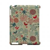 Lovebird Floral Splatter - Geeks Designer Line Floral Series Hard Case for Apple iPad (3rd & 4th Gen.)