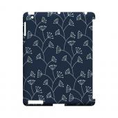 Simple Blue - Geeks Designer Line Floral Series Hard Case for Apple iPad (3rd & 4th Gen.)