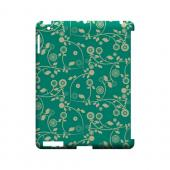 Floral 2 Emerald - Geeks Designer Line Pantone Color Series Hard Case for Apple iPad (3rd & 4th Gen.)