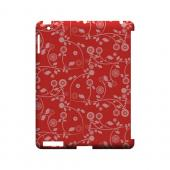 Floral 2 Poppy Red - Geeks Designer Line Pantone Color Series Hard Case for Apple iPad (3rd & 4th Gen.)
