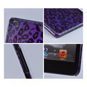 Purple/ Black Leopard Hard Case for Apple iPad Mini