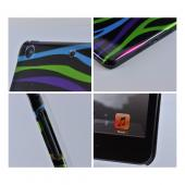 Rainbow Zebra on Black Hard Case for Apple iPad Mini