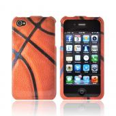 AT&T/ Verizon Apple iPhone 4, iPhone 4S Hard Case - Orange/ Black Basketball