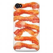 Bacon Goes Good - Geeks Designer Line Humor Series Matte Case for Apple iPhone 4/4S