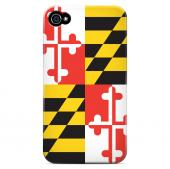 Maryland - Geeks Designer Line Flag Series Matte Back Case for Apple iPhone 4/4S