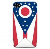 Ohio - Geeks Designer Line Flag Series Matte Back Case for Apple iPhone 4/4S