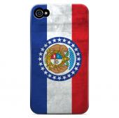 Grunge Missouri - Geeks Designer Line Flag Series Matte Case for Apple iPhone 4/4S