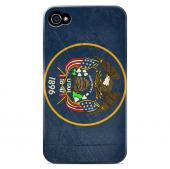 Grunge Utah - Geeks Designer Line Flag Series Matte Case for Apple iPhone 4/4S