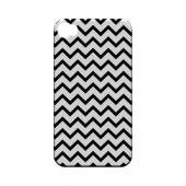 Black on White Geeks Designer Line Zig Zag Series Matte Hard Case for Apple iPhone 4/4S
