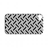 Black/ White 3D Geeks Designer Line Zig Zag Series Slim Hard Case for Apple iPhone 4/4S
