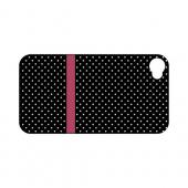 Pink Horizontal Stripe Geeks Designer Line Polka Dot Series Slim Hard Case for Apple iPhone 4/4S