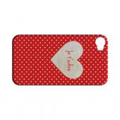 Je t'adore Geeks Designer Line Heart Series Slim Hard Case for Apple iPhone 4/4S