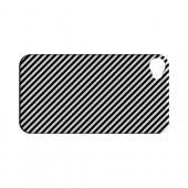 Thin Black/ White Diagonal - Geeks Designer Line Stripe Series Hard Case for Apple iPhone 4/4S
