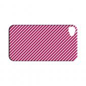Thin Hot Pink Diagonal - Geeks Designer Line Stripe Series Hard Case for Apple iPhone 4/4S
