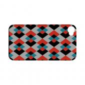 Double Diamond Vision - Geeks Designer Line Checker Series Matte Case for Apple iPhone 4/4S