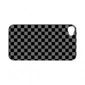 Gray/ Black - Geeks Designer Line Checker Series Hard Case for Apple iPhone 4/4S