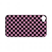 Pink/ Black - Geeks Designer Line Checker Series Hard Case for Apple iPhone 4/4S