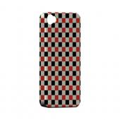 Red/ Black on Cream - Geeks Designer Line Checker Series Hard Case for Apple iPhone 4/4S