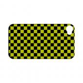 Yellow/ Black - Geeks Designer Line Checker Series Hard Case for Apple iPhone 4/4S