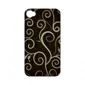 Elegant Dark Vines - Geeks Designer Line Floral Series Matte Case for Apple iPhone 4/4S