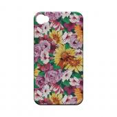 Pink/ Orange Flowers - Geeks Designer Line Floral Series Matte Case for Apple iPhone 4/4S