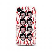 Che Guevara Happy Revolutionary Multi-Face on Red - Geeks Designer Line Revolutionary Series Matte Case for Apple iPhone 4/4S