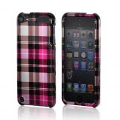 Pink/ Hot Pink/ Brown/ Gray Plaid Pattern Hard Case for Apple iPod Touch 5