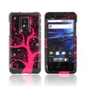 T-Mobile G2X Hard Case - Hot Pink Tree on Black