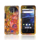 T-Mobile G2X Hard Case - Gustav Klimt's the Kiss on Yellow/ Orange