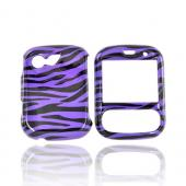LG Remarq LN240 Hard Case - Zebra Purple/Black